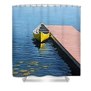 Yellow Canoe Shower Curtain by Kenneth M  Kirsch