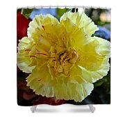 Yellow Carnation Delight Shower Curtain