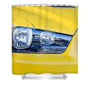 Yellow Charger 1520 Shower Curtain