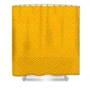 Yellow Chevron Waves Shower Curtain