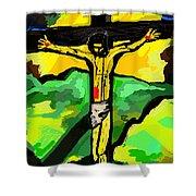 Yellow Christ  After Gauguin Shower Curtain