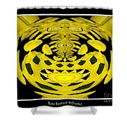 Yellow Chrysanthemums Polar Coordinates Effect Shower Curtain
