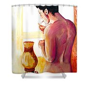 Yellow Cigarette  Shower Curtain