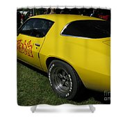 Yellow Classic Car Diablo At The Show Shower Curtain