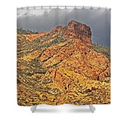 Yellow Colored Rock Along The Apache Trail Shower Curtain