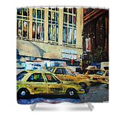 Yellow Congestion Shower Curtain