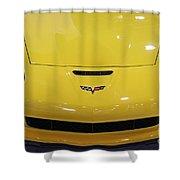 Yellow Corvette Shower Curtain