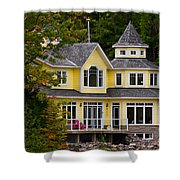 Yellow Cottage Shower Curtain