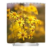 Yellow Countryside Shower Curtain