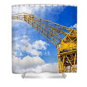 Yellow Crane And Sky Shower Curtain