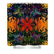 Yellow Dragon Power Shower Curtain