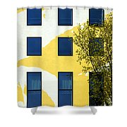 Yellow Facade In Berlin Shower Curtain