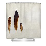 Yellow Feathers Shower Curtain