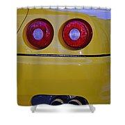 Yellow Ferrari Tail Lights Shower Curtain