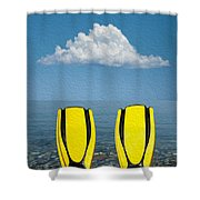 Yellow Fins Shower Curtain