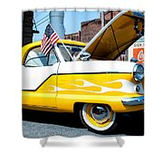 Yellow Flame Shower Curtain by Cindy Archbell