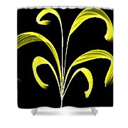Yellow Flaring Plant Shower Curtain