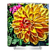 Yellow Flower Shower Curtain