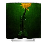 Yellow Flower In A Bottle I Shower Curtain