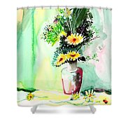 Yellow Flowers 1 Shower Curtain