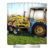 Yellow Ford Tractor Shower Curtain