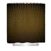 Yellow Fractal Background Shower Curtain