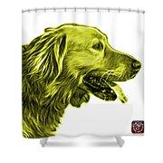 Yellow Golden Retriever - 4047 Fs Shower Curtain