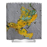 Yellow Graffiti Shower Curtain