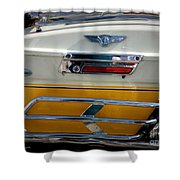 Yellow Harley Saddlebags Shower Curtain