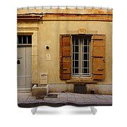 Yellow House No 32 Arles France Dsc01779  Shower Curtain