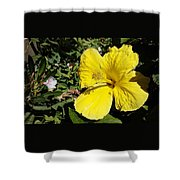 Yellow Hibiscus For Mom Shower Curtain