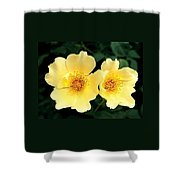 Yellow Hybiscus Shower Curtain