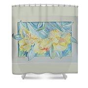 Yellow Iris' Shower Curtain