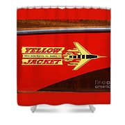 Yellow Jacket Outboard Boat Shower Curtain