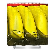 Yellow Kayaks Shower Curtain