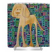 Yellow Lab Pup Shower Curtain