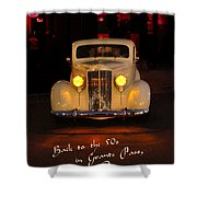 Yellow Lights At Celebration Shower Curtain