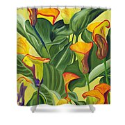 Yellow Lilies Shower Curtain