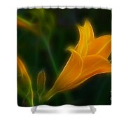 Yellow Lily 6011-fractal Shower Curtain