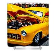 Yellow Machine Shower Curtain