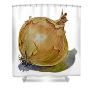Yellow Onion Shower Curtain
