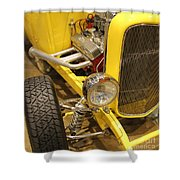 Street Car - Yellow Open Engine Shower Curtain