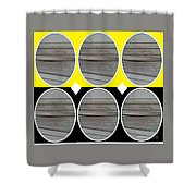 Yellow Oval Shower Curtain