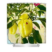 Yellow Pepper Shower Curtain