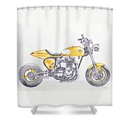 Yellow Peril Shower Curtain