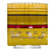 yellow Porsche Shower Curtain
