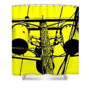 Yellow Power Shower Curtain