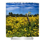 Yellow Profusion Shower Curtain