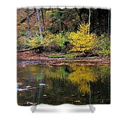 Yellow Reflections Shower Curtain