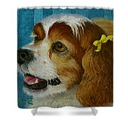 Yellow Ribbons Shower Curtain